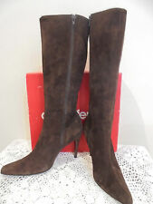 Vintage Country Road Brown Suede Leather Boots pointed toes Size 9 or 40