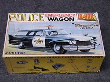 Vintage Sealed 70's 1960 Plymouth Police Emergency Wagon Jo-Han GC-500 Model Kit