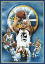 Steph Curry Montage Golden State Warriors Sports Poster Print NBA New 24x36