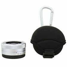 Neoprene Case Pouch & Microfibre cloth for Pancake Lens Sony Samsung Panasonic