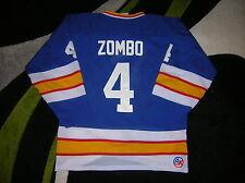 VINTAGE #4 Rick ZOMBO St. Louis BLUES Home/BLUE AK Jersey, Size ADULT XL