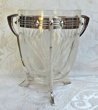 WMF Jugendstil Traubenwaschschüssel  Grape Washing Glass Bowl silver plate frame