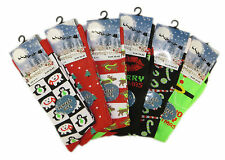 Pack Of 6 Men's Christmas Socks, Novelty Xmas Stocking Filler, 6-11 Gift for Him