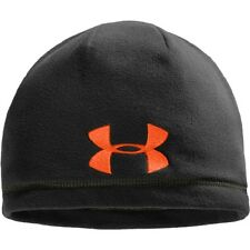 Under Armour 1241967 Men's Black UA Outdoor Fleece Polyester Beanie - Size OSFA