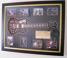 AC/DC Fully signed Guitar  Framed COA