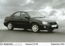 Foto de prensa subaru impreza 2.0 GX lim 9 03 foto press photo 17,8x12,7 cm 2003