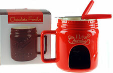 Chocolate Fondue Mug Gift Set - Red Design