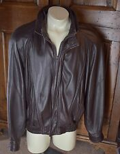 Leather Bomber Jacket top quality from BALLY mens 46 [sleeve 36] made in ITALY $