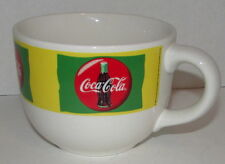 Vintage 1999 COCA-COLA Glass Large Soup Mug Cup Ice Cream Popcorn Multi-Colored