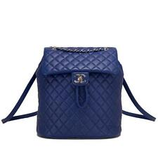 Chanel Urban Spirit Blue Lambskin Large Backpack