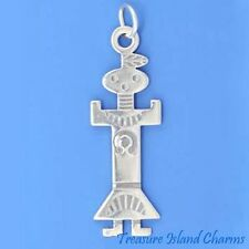 NATIVE AMERICAN KACHINA DOLL DANCER .925 Solid Sterling Silver Charm Pendant