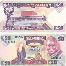 Sambia / ZAMBIA - 50 Kwacha 1988 UNC - Pick 28