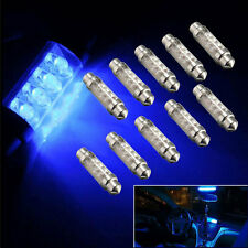 42mm 8 LED Blue Auto Car Vehicle Interior Light Dome Reading Lamp Bulb