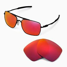 New WL Polarized Fire Red Replacement Lenses For Oakley Deviation Sunglasses