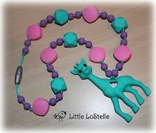 Nursing Teething Ring Necklace Chewelry Giraffe Baby Carrier Tula Ergo Necklace