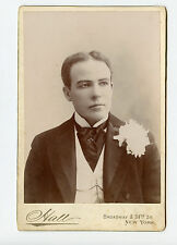 Vintage Cabinet Card Mark Sullivan Early Stage actor Hall Photo New York