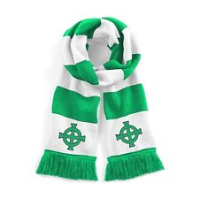 Retro Northern Ireland Traditional  Football Scarf Embroidered Logo