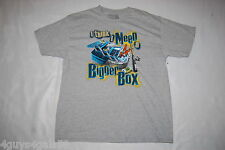 Mens S/S Tee Shirt GRAY Fishing I THINK I NEED A BIGGER BOX Tackle Box M 38-40