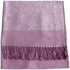 Light Purple Paisley Pattern Shawl Pashmina Scarf Wrap Stole CJ Apparel **NEW**