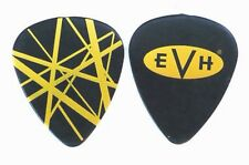 Van Halen Guitar Pick! Eddie Van Halen Black and Yellow Pick. EVH Oval.