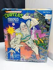 "Vintage TMNT Krang Android Body 11"" Figure with Box and Insert 1991"