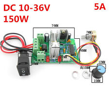5A 12V 24V 36V DC Motor Variable Speed Controller Reversible PWM Drive Control
