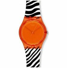 Swatch Orange Zeb Stainless Steel Watch GO-107