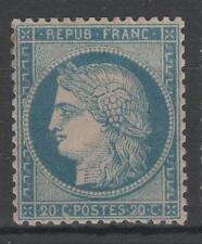 """FRANCE STAMP TIMBRE N° 37 """" CERES 20c BLEU SIEGE DE PARIS 1870 """" NEUF x TB  N946"""