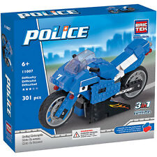 Racing Motorcycle Police BricTek Building Block Construction Toy Brick