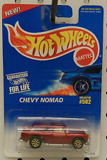 RED MAROON GOLD 55 56 57 CHEVY NOMAD WAGON BLUE CARD 502 95 1996  HW HOT WHEELS