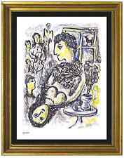 "Marc Chagall Signed & Hand-Numbered Ltd Edition ""Happiness"" Lithograph Print"
