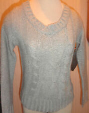Ladies Yom Yom Gray Long Sleeve Sweater Top Size Small