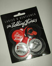 LOT DE 4 BADGES THE ROLLING STONES