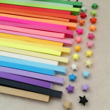 80pcs Origami Lucky Star Paper Strips Folding Paper Ribbons Colors Party Gift