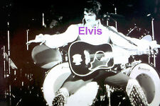 ELVIS PRESLEY DOING AIRPLANE SIGN UNIONDALE NY BY JOE SIA 7/19/75 PHOTO CANDID