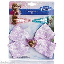 Disney Frozen Anna and Elsa 3pc Hair Accessories Kids Set NWT