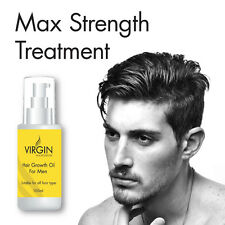 VIRGIN FOR MEN HAIR GROWTH OIL STOPS HAIR THINNING STOP BALDING ANTI DANDRUFF