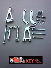 Small block Chevy POLISHED aluminum alternator & power steering bracket set LWP