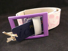 Beautiful Retro Vintage Playboy Pink and Purple Photo's Belt With Bunny Logo
