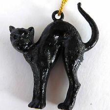Vtg 1960's Black Cat Charm Hang Tag Zeller Schwarze Katz Wine Plastic Multiples