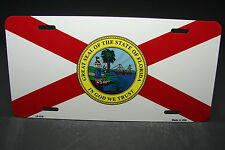 FLORIDA STATE FLAG METAL ALUMINUM CAR LICENSE PLATE TAG