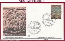 ITALIA FDC FILAGRANO I LONGOBARDI IN ITALIA CRISTO RISORTO 1990 ANN. TORINO T101