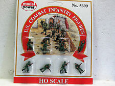 MODEL POWER HO Scale U.S COMBAT INFANTRY FIGURES #5699 8pc PAINTED New in pack