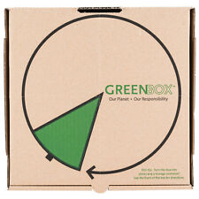 """GreenBox 10"""" x 10"""" x 1 3/4"""" Corrugated Recycled Pizza Box Built-In Plates 50"""