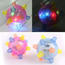 Baby Kid Toy Jumping Joggle Flashing Light Up Bouncing Vibrating Sound Ball #A