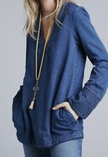 Free People Dreaming Of Denim Shirt Size Small