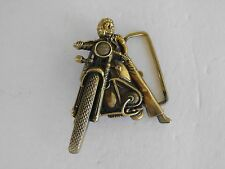 EASY RIDER MOTORCYCLE BELT BUCKLE  SOLID  BRASS GOLD TONE BARON MAKER 6048