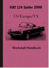 Fiat 124 Spider (US/Europa/VX) Reparaturanleitung Werkstatt-Handbuch Montage