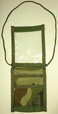 Pochette d'identité militaire imperméable en tissu camouflage armée française