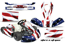 AMR Racing JR CRG Cadet Bambino Kart Graphic Decal Sticker Wrap Kit USA FLAG